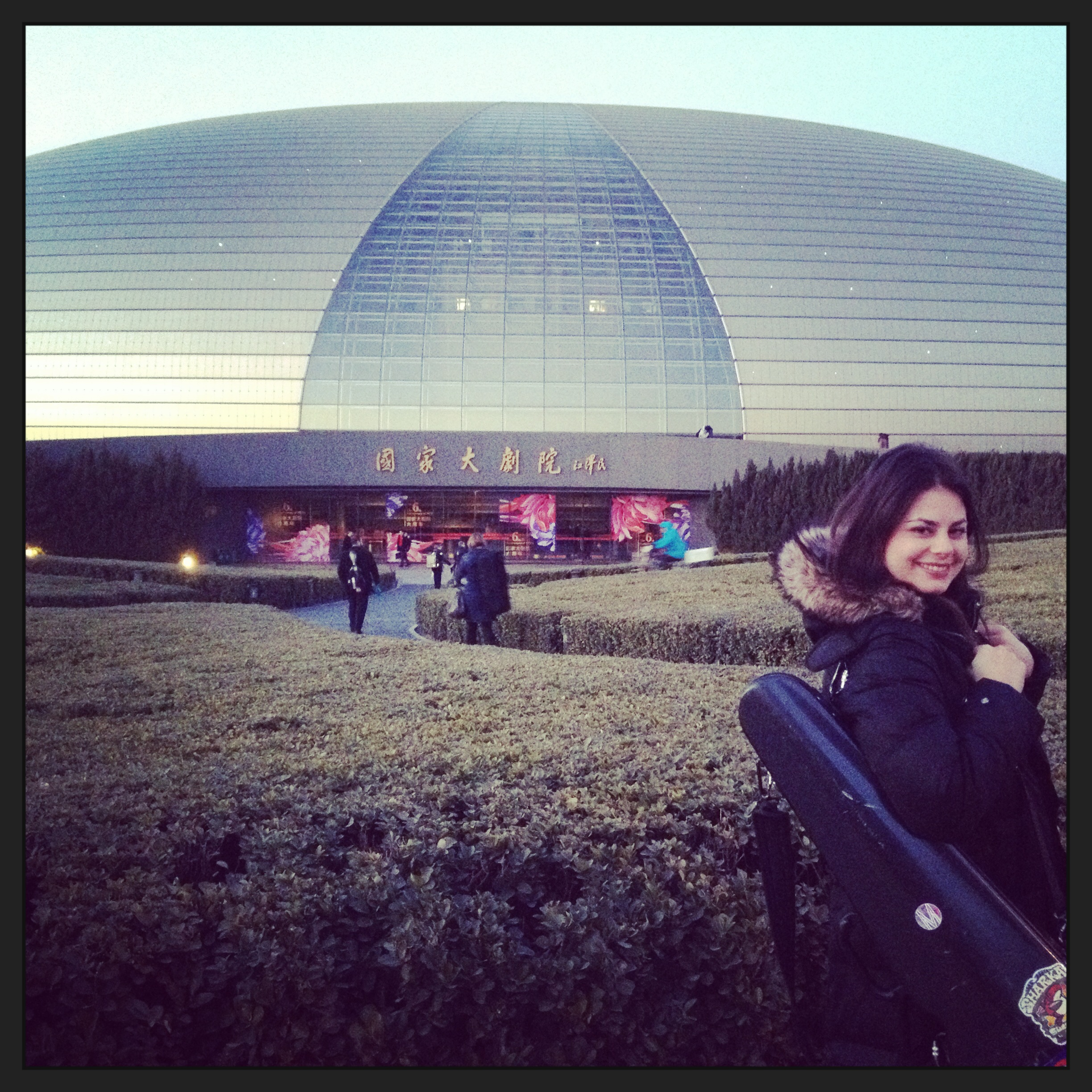 Getting ready to Perform at Beijing's National Center for the Performing Arts.