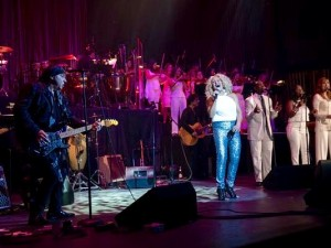 Performing with Darlene Love and Steven Van Zandt at the Paramount.
