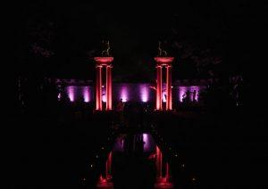 The Amphitheater at night.